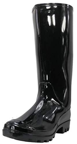 Shoes 18 Womens Classic Rain Boot with Buckle (5, Black2 Rain)