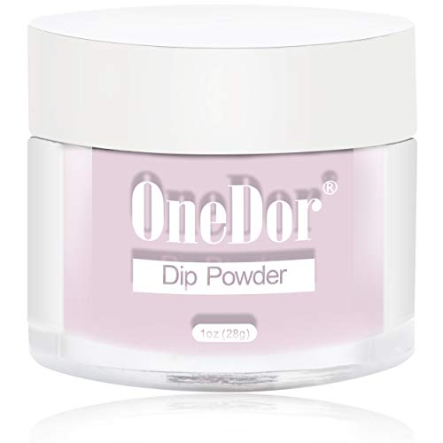 OneDor Nail Dip Dipping Powder - Acrylic Color Pigment Powders Pro Collection System, 1 Oz. (R4232 - Light Pink)