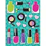 Club Pack of 48 Sparkle Spa Party! Makeup Value Sticker Sheets 6''