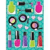 Club Pack of 48 Sparkle Spa Party! Makeup Value Sticker Sheets 6'' by Party Central (Image #1)