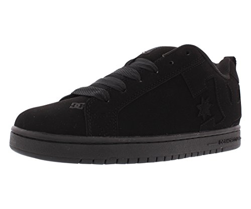 DC Men's Court Graffik Skate Shoe, Black/Black/Black, 10.5 M US -