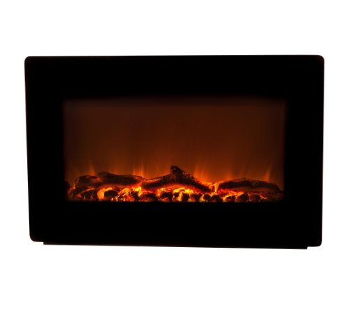 Fire Sense Wall-Mounted Electric Fireplace Black 60757