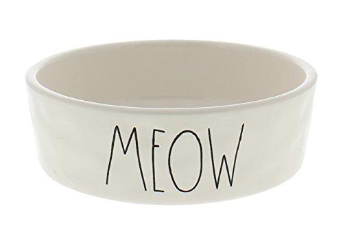 Rae Dunn Magenta Ceramic Pet Bowl Meow Small 4.75 Inch (Meow Cat Bowl)