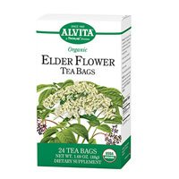 Alvita Organic Elder Flower Tea - 24 Tea Bags - Elderberry Tea 24 Bags