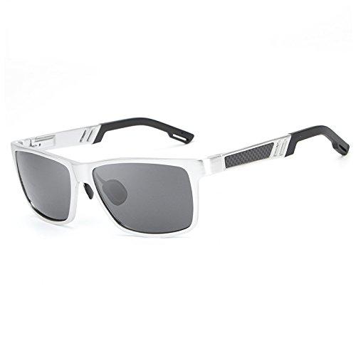 silver Silver Pesca aleación y Shades polarizada Sol Calidad Marco Resistencia Que de Oculos con de Hombre Conduce Alta de Gafas XZP para Ciclismo B1OxTqnBd