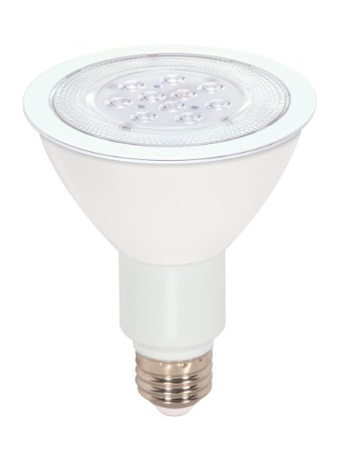 Satco S9090 11 Watt (75 Watt) 750 Lumens PAR30 Long Neck LED Warm White 3000K 40 Beam Ditto Light Bulb, Dimmable
