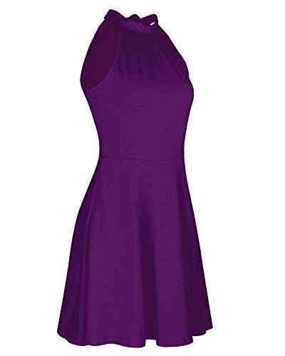 Vestito Purple OUGES OUGES Donna halterneck Vestito PUEwzqXP