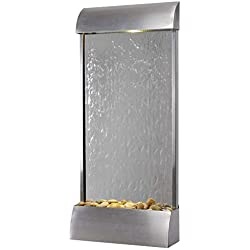 """Kenroy Home 51056SS Breckenridge Wall/Floor Fountain with Light, 42"""" H Stainless Steel"""