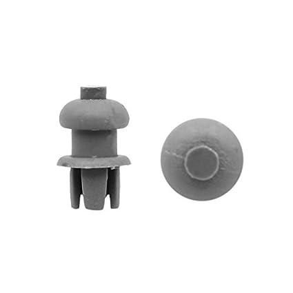 eDealMax 30 PC 7.5mm empuje agujero de plástico gris en el Interior del remache Clips