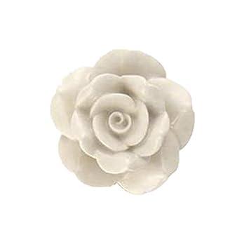 Bombay Duck - Vintage Rose Ceramic Cupboard/Drawer Door Knob - Cream ...