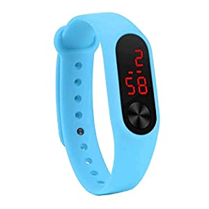 GT Gloptook Digital led Watch Band Type Sky Blue Colour Men's and Boys Watch