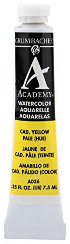 Grumbacher Academy Watercolor Paint, 7.5ml/0.25 Ounce, Cadmium Yellow Pale Hue (A036)