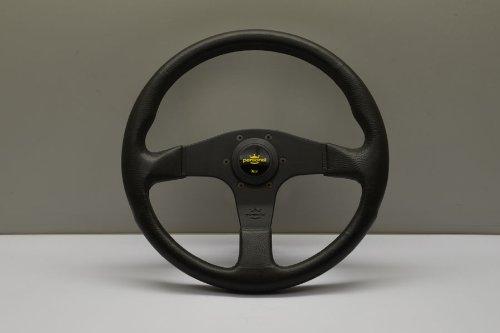 Nardi Personal Steering Wheel - Blitz - 330mm (12.99 inches) - Black Polyurethane with Black Spokes - Yellow Logo Horn Button - Part # 8474.32.2001 (Personal Steering Wheel)