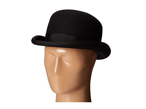 (Scala Classico Men's Wool Felt Bowler Hat, Black, Large)