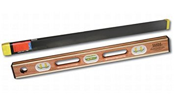 Kraft Tool SL12AB24C Sands Professional Brass Bound Level with Case, 24-Inch