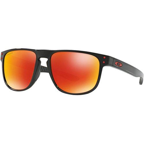 Oakley Men's Holbrook R Polarized Iridium Square Sunglasses, Polished Black, 55.0 - Holbrook Ruby Polarized Oakley