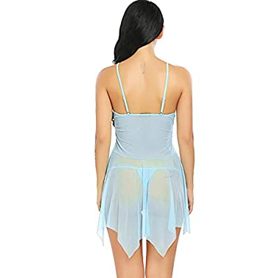 Avidlove Women Lingerie Lace Babydoll V Neck Sleepwear Strap Chemise at Women's Clothing store
