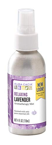 Aura Cacia Relaxing Lavender Aromatherapy Mist 4 fl oz | GC/MS Tested for Purity