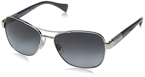 Ralph Lauren Sunglasses Women's 0ra4119 Polarized Square, Silver/ Blue Horn, 57 - 135 Ralph Lauren Sunglasses