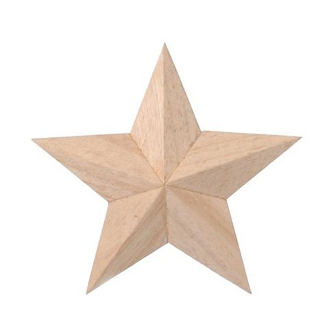 Bulk Buy: Darice DIY Crafts Wood 3D Star 4 inches X 6 Pieces  9191-50 ()