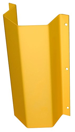 Steel Pipe Guards - BPGW Series; Flanged: Standard Flange for flat wall; Body Width: 15''; Body Height: 46''; Accommodate Pipe: 10''; Coating: Powder Coated Yellow; Weight: 160 lbs. by Beacon World Class Products