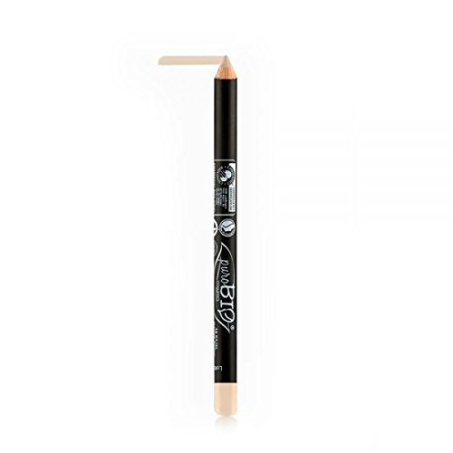 puroBIO Certified Organic Cosmetics Highly Pigmented, Long-Lasting Matte Eyeliner Pencil - Nude 043 - With Almond, Sesame Oils, Vitamins, Plant Derived Pigments and Waxes.Organic. Vegan. Made in Italy