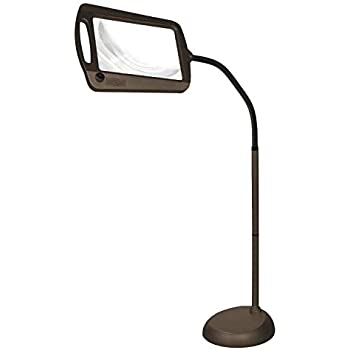 Amazon Com Daylight24 402039 05 Full Page 8 X 10 Inch Magnifier Led Illuminated Floor Lamp