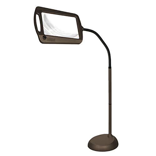 Simpla Full-Page Floor Magnifying Lamp - Bronze