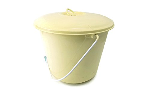 enamel bucket with lid - 3