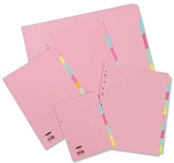 Concord 234256 - Separador para archivadores (A4): Amazon.es: Oficina y papelería