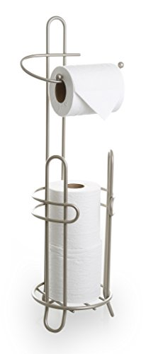 BINO 'The Millenium' Free Standing Toilet Paper Holder, Nickel Toilet Paper Caddy