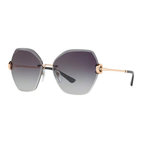 Bvlgari BV6105B 20148G Pink Gold BV6105B Square Sunglasses Lens Category 3 Size (Bvlgari Sonnenbrille Damen)