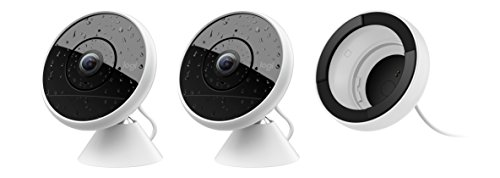 Logitech Circle 2 Combo Pack: 2 Indoor/Outdoor Wired Home Security Cameras & 1 Window Mount Works with Alexa, HomeKit and Google with Easy Setup, 1080p HD, 180° FOV, Alerts, Free 24-Hours Storage