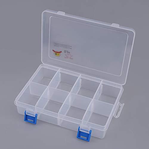 Florencenid Home & Garden Multipurpose Storage Box Classic Creative Multi Function Combination Storage Box Transparent Plastic Box ()