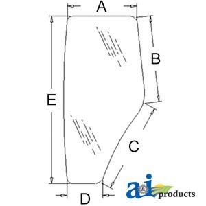 john deere 265 wiring diagram  source  amazon com a&i products cab door  glass lh part no a r198624 rh amazon com at