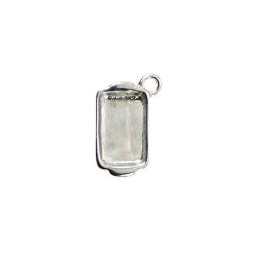 Sterling Silver Tiny Casserole Dish Charm Item #38569 (Food Bracelet Charms Silver)