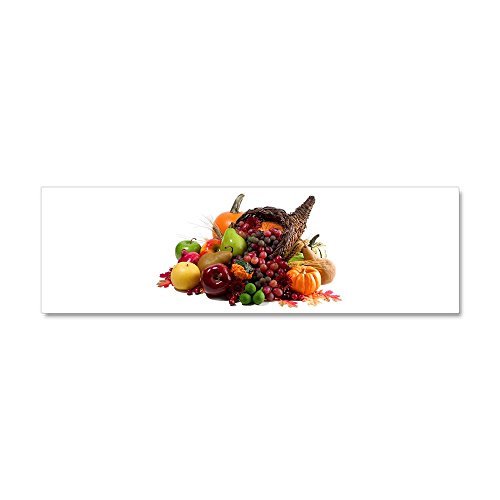 Car Magnet 10 x 3 Inch Thanksgiving Turkey Cornucopia -