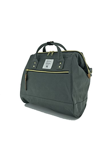 r Handle Polyester Canvas Waterproof Boston Bag (Charcoal Gray) ()