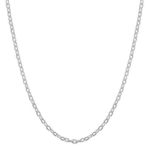 (Kooljewelry Sterling Silver 1.4 mm Round Textured Cable Chain Necklace (18 inch))