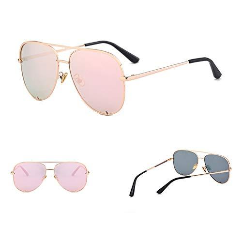 80931c Australia Stylish Vintage Sunglasses Shades Claw Retro Pilot Pink Sun Glasses Female,gold pink ()