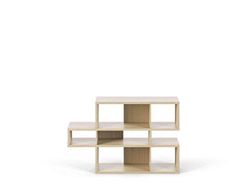 (Temahome London Bookshelf, Composition 2010-001, Walnut Frame, Pure White Backs)
