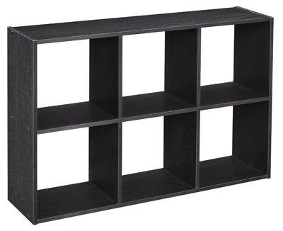 Elegant ClosetMaid Cubeicals 6 Cube Mini Organizer, Black Ash
