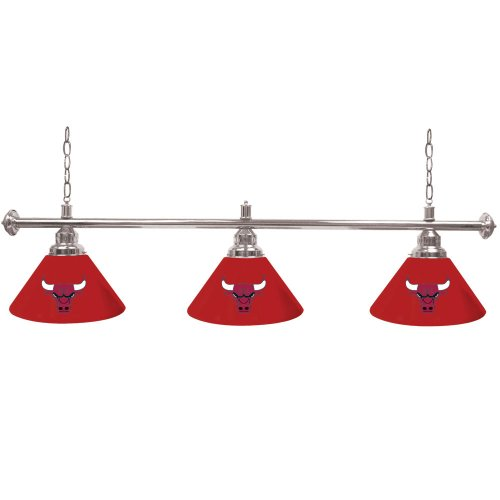 Chicago Bulls NBA 3 Shade Billiard Lamp by Trademark Global