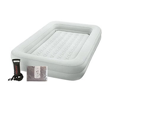 Intex Kids Inflatable Travel Bed, includes Bonus 100% cotton jersey fitted sheet