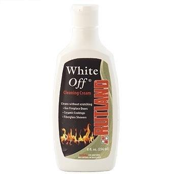 Rutland Fireplace Maintenance White Off Glass Cleaner 8 OZ FCP565