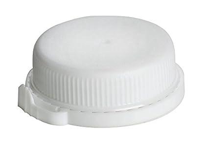 BIOZOYG 131x Tapones para Botellas | cantidad para Botellas de 500ml | de LDPE, Blanco