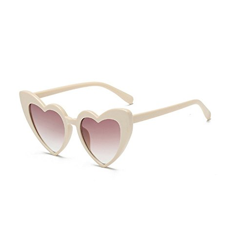 MINCL/New Fashion Love Heart Sexy Shaped Sunglasses For Women Girls Brand Designer Sunglasses UV400 - A Sunglasses New