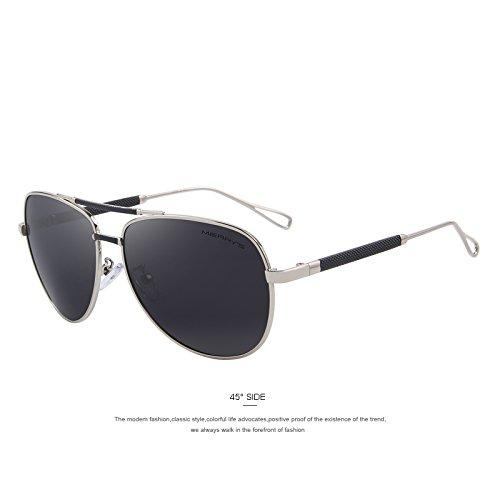Hombre polarizadas Guía de de HD Silver gafas C02 TIANLIANG04 de gafas de clásicas lujo C03 sol aluminio aviación de Gris sol dgnq0P