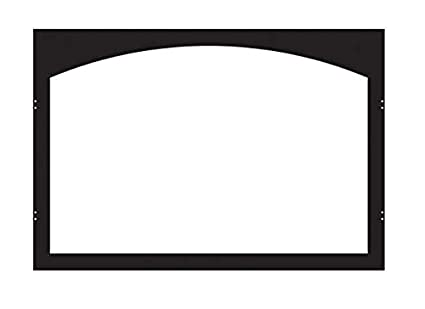 Awesome Arch 36 Inch Firebox Door Frame VBY36GBL   Matte Black