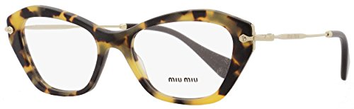 Miu Miu Eyeglasses VMU 04L Eyeglasses HAN-1O1 Sand Light Havana - Miu Miu Glasses Cat Eye